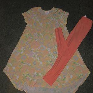LulaRoe leggings and dress set leggings